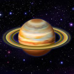 planeta saturno en vivo por diskeep @debteam